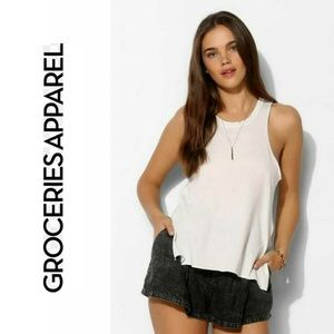 Groceries Cropped Back Tank Top 589644681